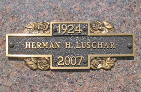 LUSCHAR (VETERAN WWII), HERMAN H - Benton County, Arkansas | HERMAN H LUSCHAR (VETERAN WWII) - Arkansas Gravestone Photos
