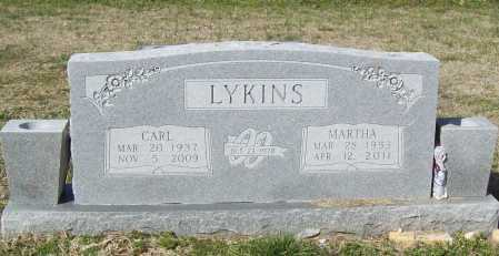 LYKINS, MARTHA - Benton County, Arkansas | MARTHA LYKINS - Arkansas Gravestone Photos