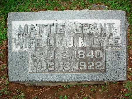 GRANT LYLE, MATTIE - Benton County, Arkansas   MATTIE GRANT LYLE - Arkansas Gravestone Photos