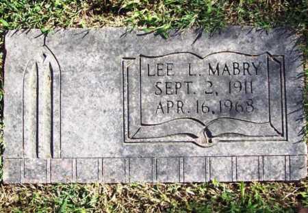MABRY, LEE L. - Benton County, Arkansas   LEE L. MABRY - Arkansas Gravestone Photos