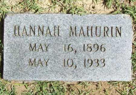 MAHURIN, HANNAH - Benton County, Arkansas | HANNAH MAHURIN - Arkansas Gravestone Photos