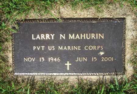 MAHURIN (VETERAN), LARRY N. - Benton County, Arkansas | LARRY N. MAHURIN (VETERAN) - Arkansas Gravestone Photos