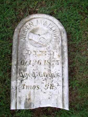 MALLORY, ALLEN - Benton County, Arkansas   ALLEN MALLORY - Arkansas Gravestone Photos