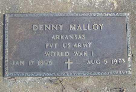 MALLOY (VETERAN WWI), DENNY - Benton County, Arkansas   DENNY MALLOY (VETERAN WWI) - Arkansas Gravestone Photos