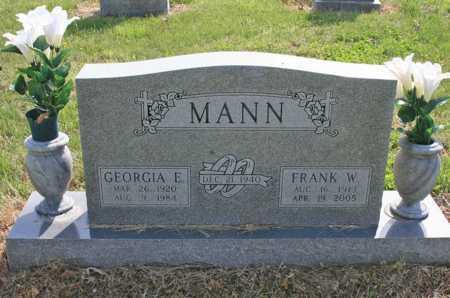 MANN, GEORGIA E. - Benton County, Arkansas | GEORGIA E. MANN - Arkansas Gravestone Photos