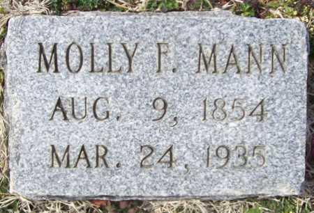 MANN, MOLLY F. - Benton County, Arkansas | MOLLY F. MANN - Arkansas Gravestone Photos