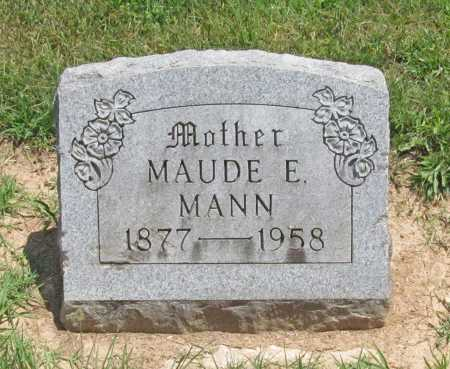 MANN, MAUDE E. - Benton County, Arkansas | MAUDE E. MANN - Arkansas Gravestone Photos