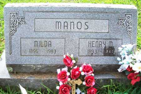 MANOS, HENRY M. - Benton County, Arkansas | HENRY M. MANOS - Arkansas Gravestone Photos