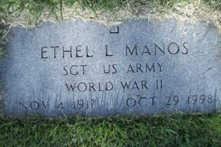 MANOS (VETERAN WWII), ETHEL L. - Benton County, Arkansas | ETHEL L. MANOS (VETERAN WWII) - Arkansas Gravestone Photos