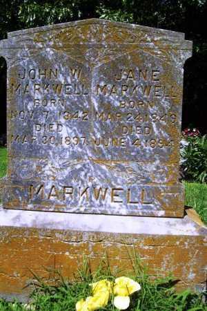 MARKWELL, JOHN W. - Benton County, Arkansas | JOHN W. MARKWELL - Arkansas Gravestone Photos