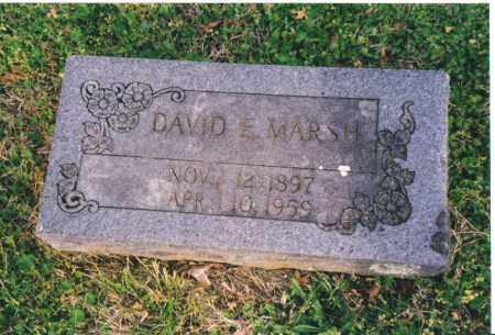 MARSH, DAVID E (ORIGINAL) - Benton County, Arkansas | DAVID E (ORIGINAL) MARSH - Arkansas Gravestone Photos