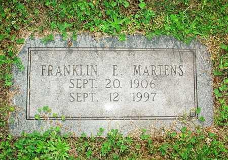 MARTENS, FRANKLIN E. - Benton County, Arkansas   FRANKLIN E. MARTENS - Arkansas Gravestone Photos