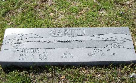 MARTIN, ARTHUR J. - Benton County, Arkansas   ARTHUR J. MARTIN - Arkansas Gravestone Photos