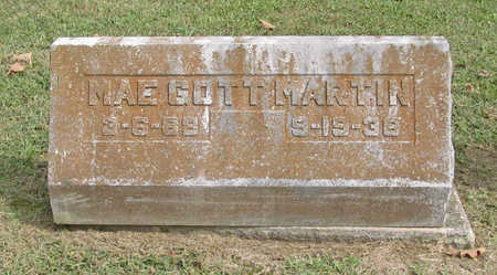 GOTT MARTIN, MAE - Benton County, Arkansas | MAE GOTT MARTIN - Arkansas Gravestone Photos