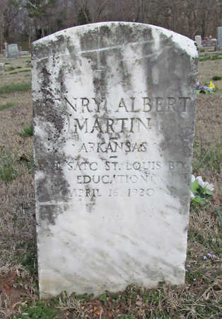 MARTIN (VETERAN), HENRY ALBERT - Benton County, Arkansas | HENRY ALBERT MARTIN (VETERAN) - Arkansas Gravestone Photos