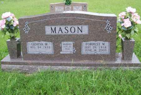 MASON, FORREST W. - Benton County, Arkansas   FORREST W. MASON - Arkansas Gravestone Photos