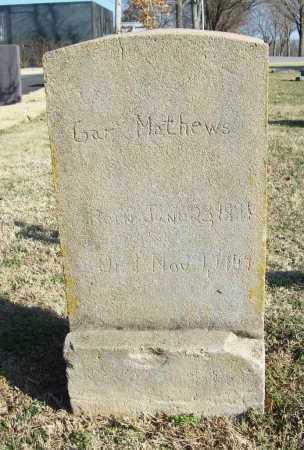 MATHEWS, GAR - Benton County, Arkansas | GAR MATHEWS - Arkansas Gravestone Photos