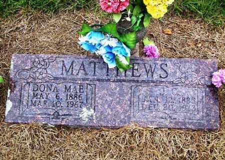 MATTHEWS, DONA MAE - Benton County, Arkansas | DONA MAE MATTHEWS - Arkansas Gravestone Photos