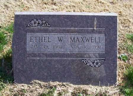 MAXWELL, ETHEL W. - Benton County, Arkansas   ETHEL W. MAXWELL - Arkansas Gravestone Photos