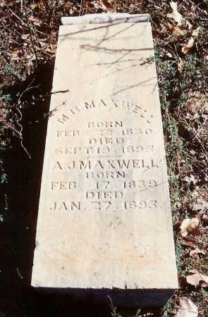 MAXWELL, M. B. - Benton County, Arkansas | M. B. MAXWELL - Arkansas Gravestone Photos