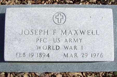 "MAXWELL (VETERAN WWI), JOSEPH FRANKLIN ""MAC"" - Benton County, Arkansas | JOSEPH FRANKLIN ""MAC"" MAXWELL (VETERAN WWI) - Arkansas Gravestone Photos"