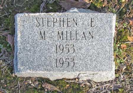 MCMILLAN, STEPHEN E. - Benton County, Arkansas | STEPHEN E. MCMILLAN - Arkansas Gravestone Photos