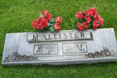 MCALLISTER, MONITA - Benton County, Arkansas | MONITA MCALLISTER - Arkansas Gravestone Photos