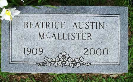 MCALLISTER, BEATRICE - Benton County, Arkansas | BEATRICE MCALLISTER - Arkansas Gravestone Photos