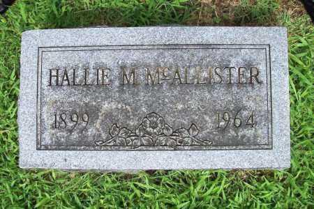 MCALLISTER, HALLIE M. - Benton County, Arkansas | HALLIE M. MCALLISTER - Arkansas Gravestone Photos