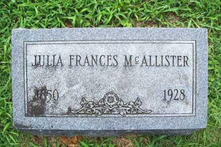 MCALLISTER, JULIA FRANCES - Benton County, Arkansas | JULIA FRANCES MCALLISTER - Arkansas Gravestone Photos