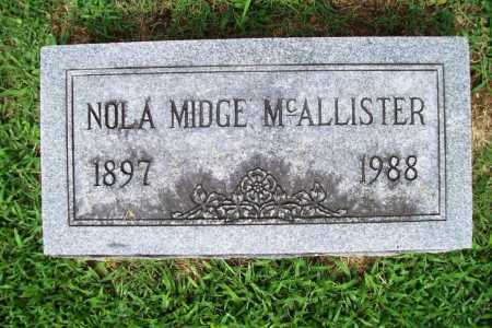 MCALLISTER, NOLA MIDGE - Benton County, Arkansas | NOLA MIDGE MCALLISTER - Arkansas Gravestone Photos