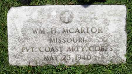 MCARTOR (VETERAN), WILLIAM H. - Benton County, Arkansas   WILLIAM H. MCARTOR (VETERAN) - Arkansas Gravestone Photos