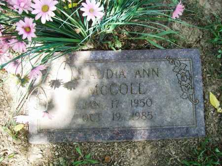 MCCOLL, CLAUDIA ANN - Benton County, Arkansas | CLAUDIA ANN MCCOLL - Arkansas Gravestone Photos