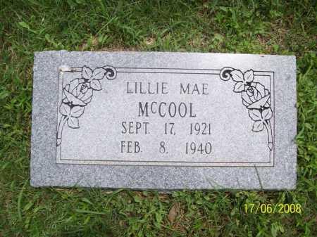 MCCOOL, LILLIE MAE - Benton County, Arkansas | LILLIE MAE MCCOOL - Arkansas Gravestone Photos
