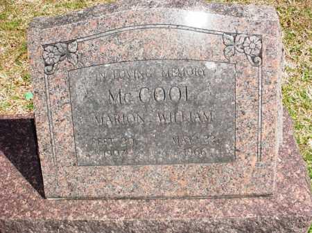 MCCOOL, MARION WILLIAM - Benton County, Arkansas | MARION WILLIAM MCCOOL - Arkansas Gravestone Photos