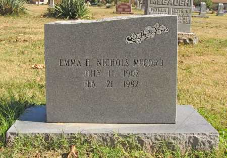 NICHOLS MCCORD, EMMA H. - Benton County, Arkansas | EMMA H. NICHOLS MCCORD - Arkansas Gravestone Photos