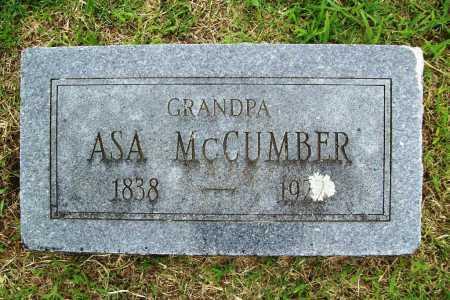 MCCUMBER, ASA - Benton County, Arkansas | ASA MCCUMBER - Arkansas Gravestone Photos