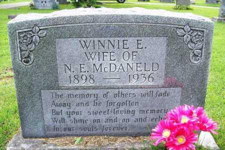 MCDANELD, WINNIE E. - Benton County, Arkansas | WINNIE E. MCDANELD - Arkansas Gravestone Photos