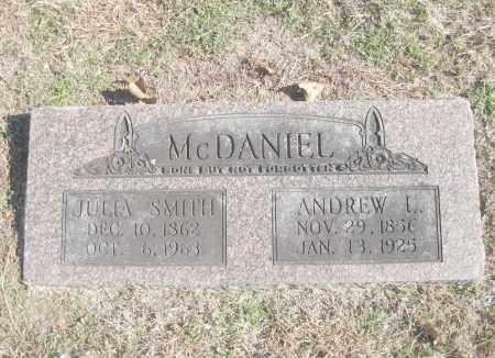 SMITH MCDANIEL, JULIA ANN - Benton County, Arkansas   JULIA ANN SMITH MCDANIEL - Arkansas Gravestone Photos