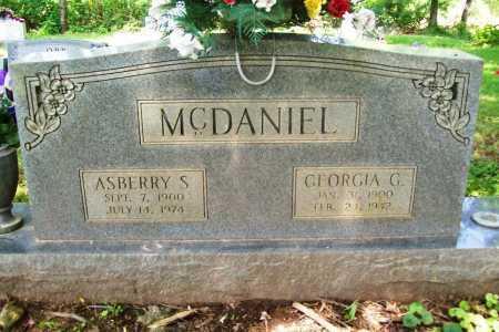 MCDANIEL, ASBERRY S. - Benton County, Arkansas   ASBERRY S. MCDANIEL - Arkansas Gravestone Photos