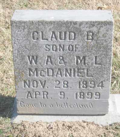 MCDANIEL, CLAUD B. - Benton County, Arkansas | CLAUD B. MCDANIEL - Arkansas Gravestone Photos