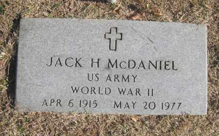 MCDANIEL (VETERAN WWII), JACK H. - Benton County, Arkansas   JACK H. MCDANIEL (VETERAN WWII) - Arkansas Gravestone Photos