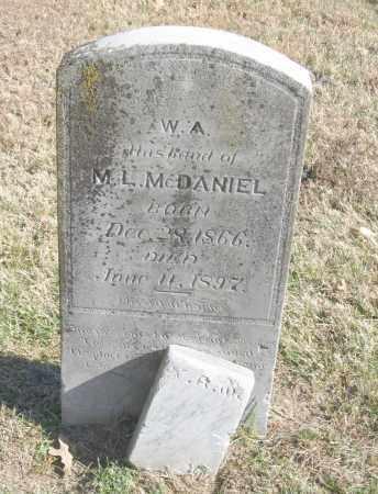 MCDANIEL, W. A. - Benton County, Arkansas | W. A. MCDANIEL - Arkansas Gravestone Photos