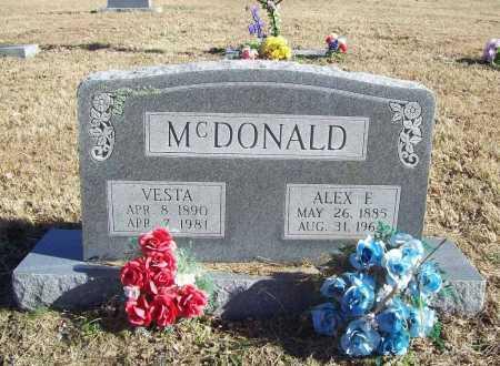 MCDONALD, ALEX F. - Benton County, Arkansas   ALEX F. MCDONALD - Arkansas Gravestone Photos
