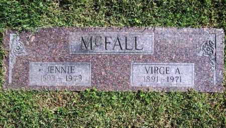 MCFALL, JENNIE - Benton County, Arkansas | JENNIE MCFALL - Arkansas Gravestone Photos