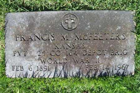 MCFEETERS (VETERAN WWII), FRANCIS M. - Benton County, Arkansas   FRANCIS M. MCFEETERS (VETERAN WWII) - Arkansas Gravestone Photos
