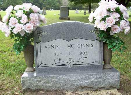MCGINNIS, ANNIE - Benton County, Arkansas | ANNIE MCGINNIS - Arkansas Gravestone Photos