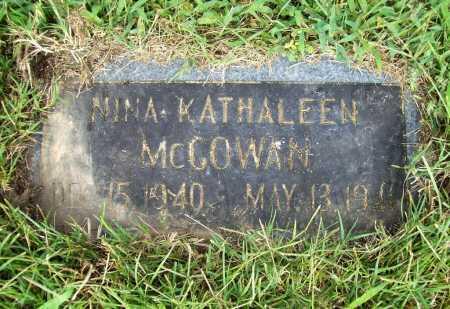 MCGOWAN, NINA KATHALEEN - Benton County, Arkansas | NINA KATHALEEN MCGOWAN - Arkansas Gravestone Photos