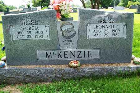 MCKENZIE, LEONARD C. - Benton County, Arkansas | LEONARD C. MCKENZIE - Arkansas Gravestone Photos