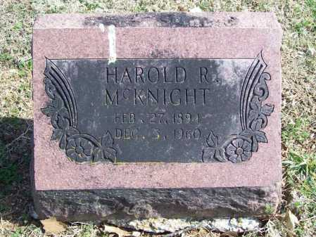 MCKNIGHT, HAROLD R. - Benton County, Arkansas | HAROLD R. MCKNIGHT - Arkansas Gravestone Photos